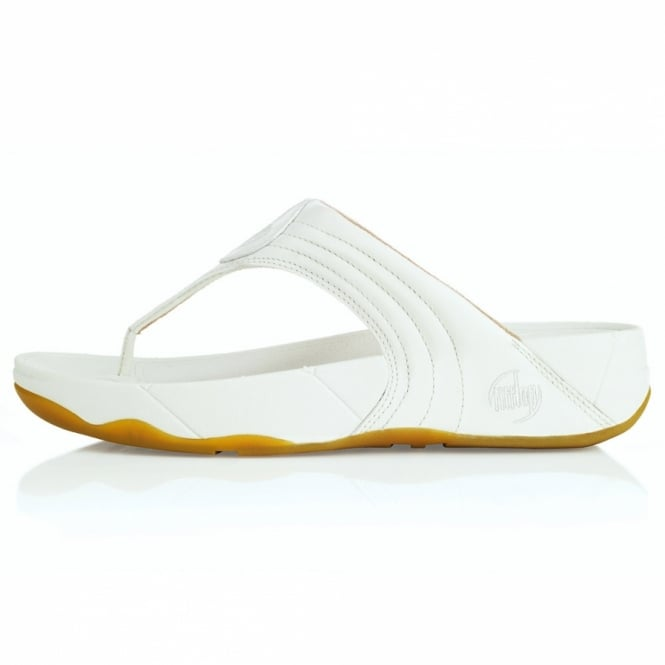 db973b47911992 FitFlop WalkStar III Womens Leather Sandals - Oyster White - Womens ...