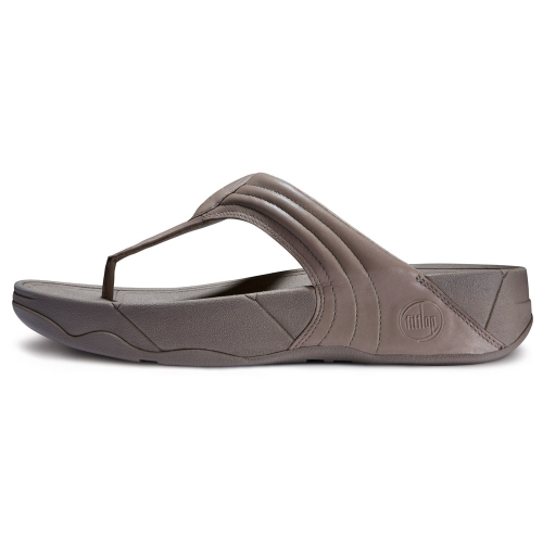 Fitflop Walkstar 3 Womens Leather Toepost Sandals In Mink