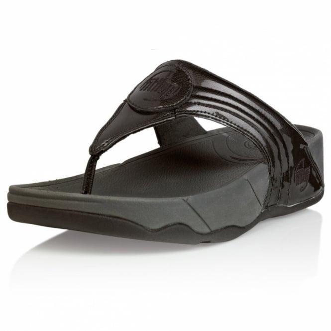 941c580a53807 FitFlop Walkstar 3 Womens Metallic Leather Sandals - Indium Grey ...