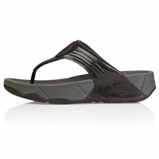 71c670cb1c7f FitFlop Walkstar 3 Womens Metallic Leather Sandals - Indium Grey ...
