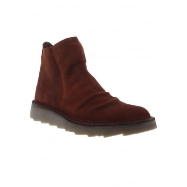 Fly London Adit 951 Womens Suede Ankle Boots - Brick Red