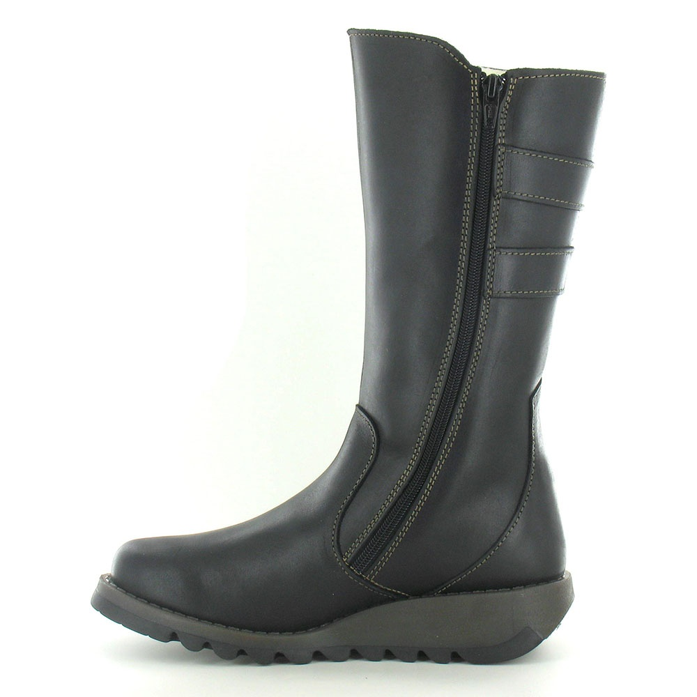 Fly London Suli Womens Leather Mid Calf Boots Black : fly london fly london suli womens leather mid calf boots black p44673 60869image from www.scorpioshoes.com size 1000 x 1000 jpeg 120kB