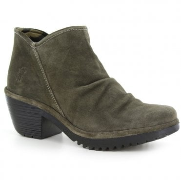 326d774c Size. UK 4 · UK 6 · UK 8 · Fly WEZ0890FLY Womens Leather Ankle Boots -  Sludge Green