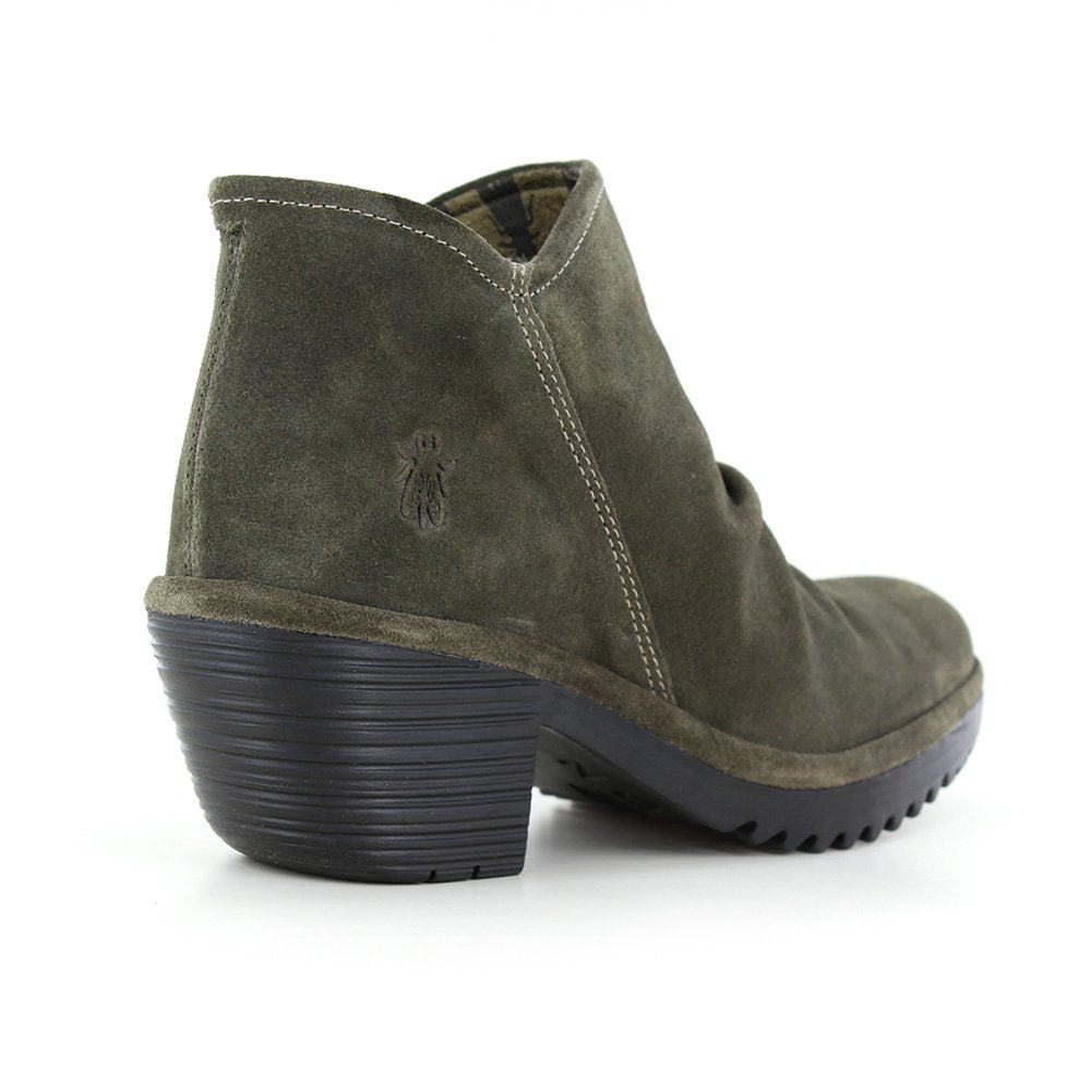 2006abb2 Fly WEZ0890FLY Womens Leather Ankle Boots - Sludge Green