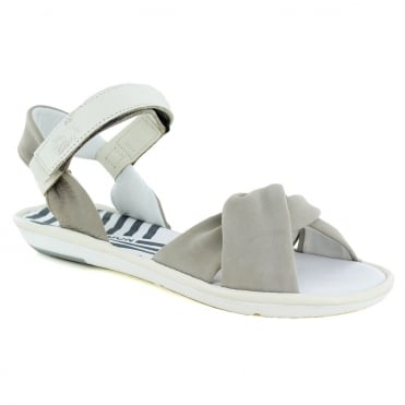 Fly London Mome Womens Leather Sandals - Cloud Off White