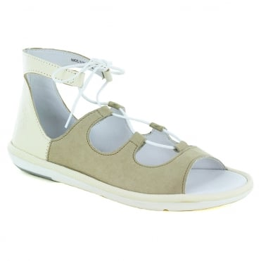 Fly London Mura Womens Flat Roman Sandals - Cloud Off White