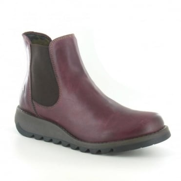 Fly London Salv Womens Leather Chelsea Boot - Purple