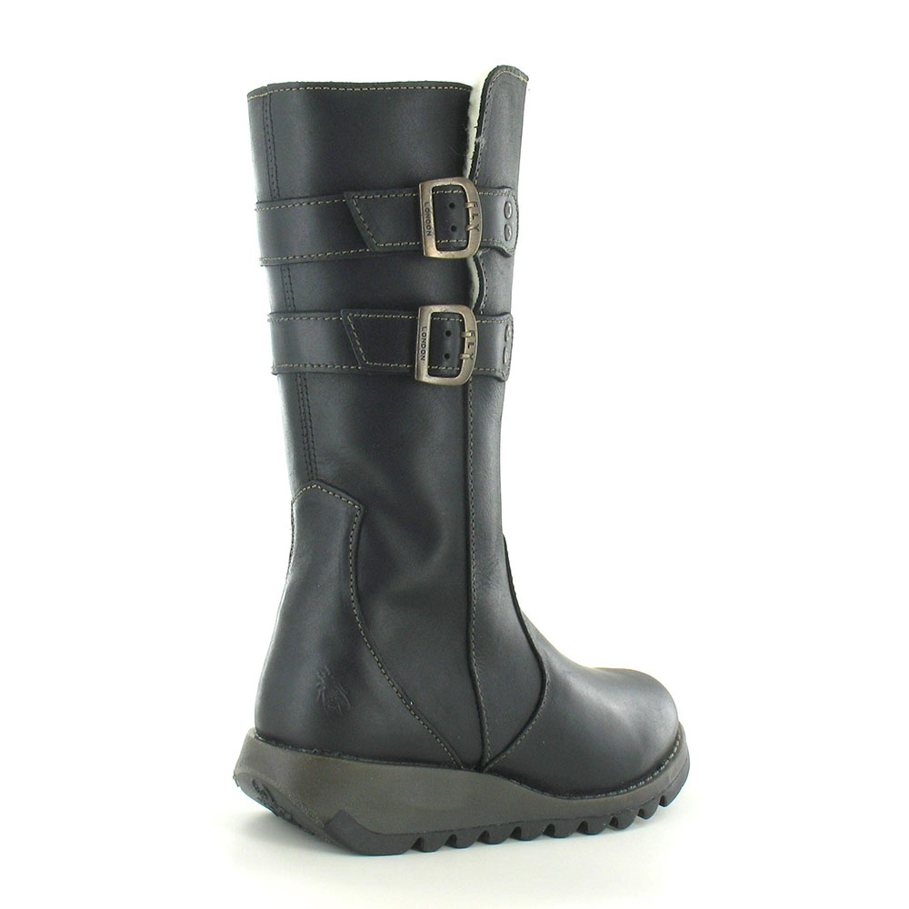 ed2dd24d648b6 Fly London Suli Womens Leather Mid Calf Boots - Black