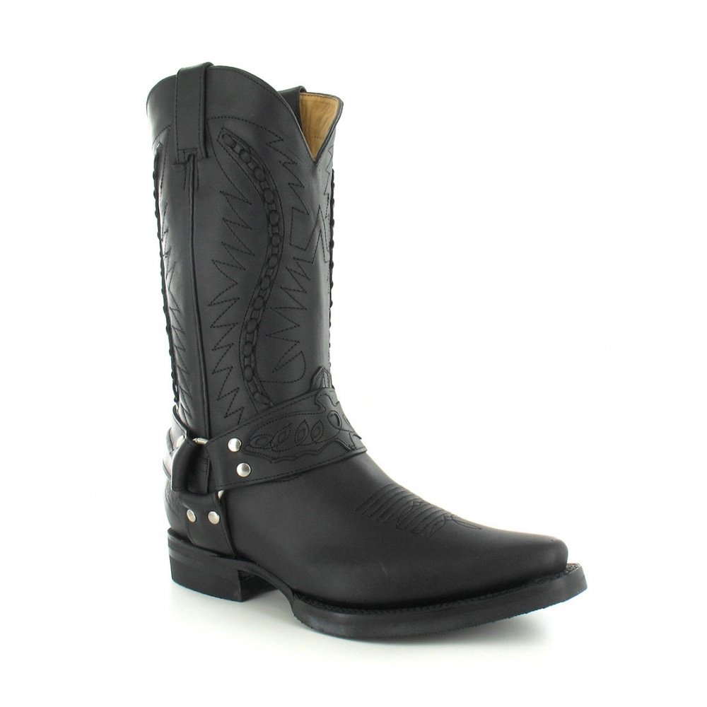grinders 105 galveston mens leather cowboy mid calf boots
