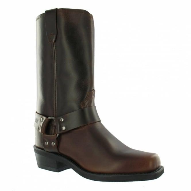 Grinders Renegade Hi Western Mens Cowboy Boots - Dark Brown
