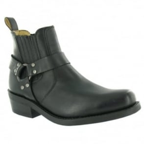 Grinders Renegade Lo Western Cowboy Boots - Black