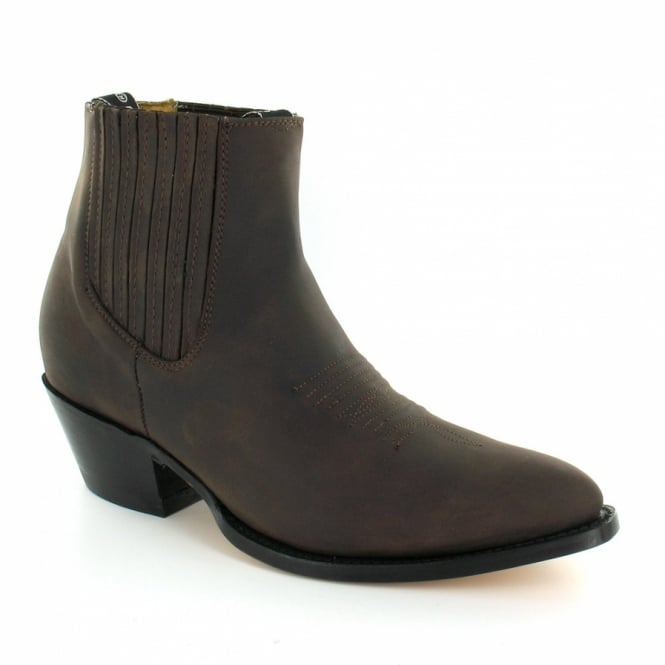 grinders maverick mens leather western cowboy ankle boots
