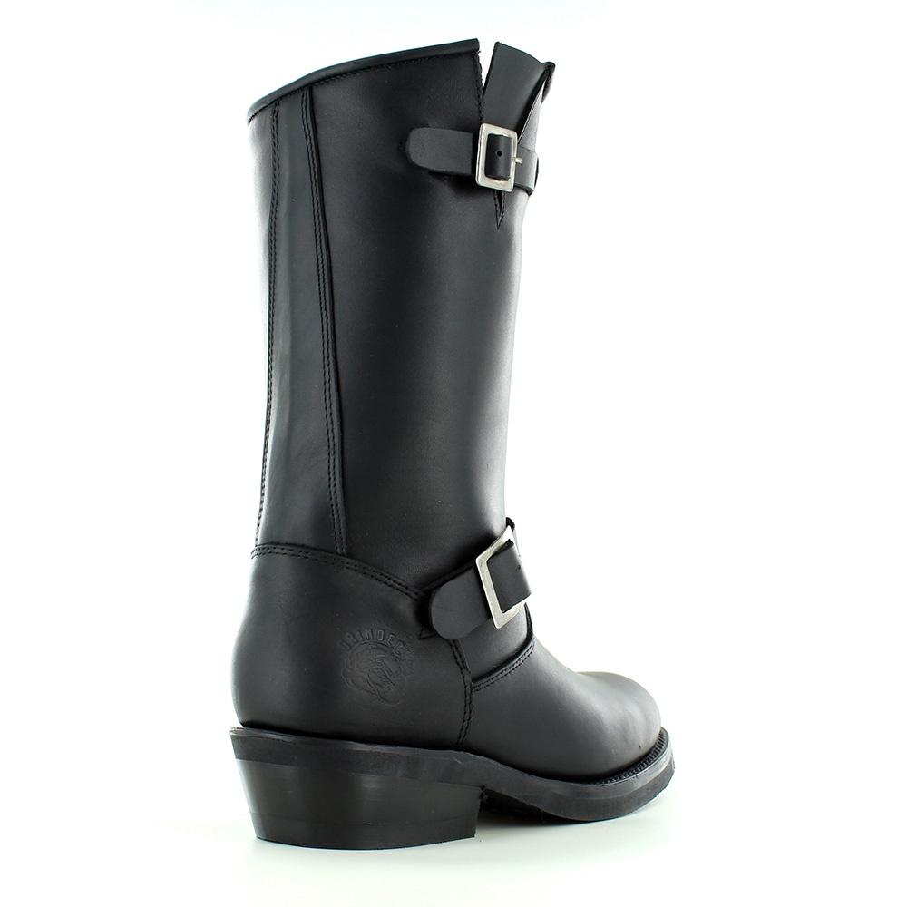 Grinders Rebel Womens Leather Mid-Calf Biker Boots - Black 14cb03ff42