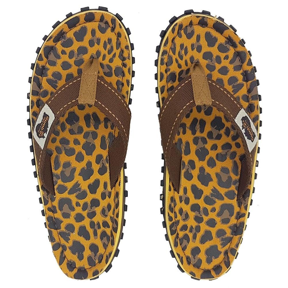 12acf55b7ec66 Gumbies Islander Womens Canvas Toe Post Flat Sandals - Leopard Print