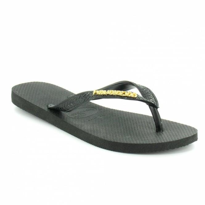 Sandals Logo Flops Flip Havaianas BlackGold From Womens 435jALR