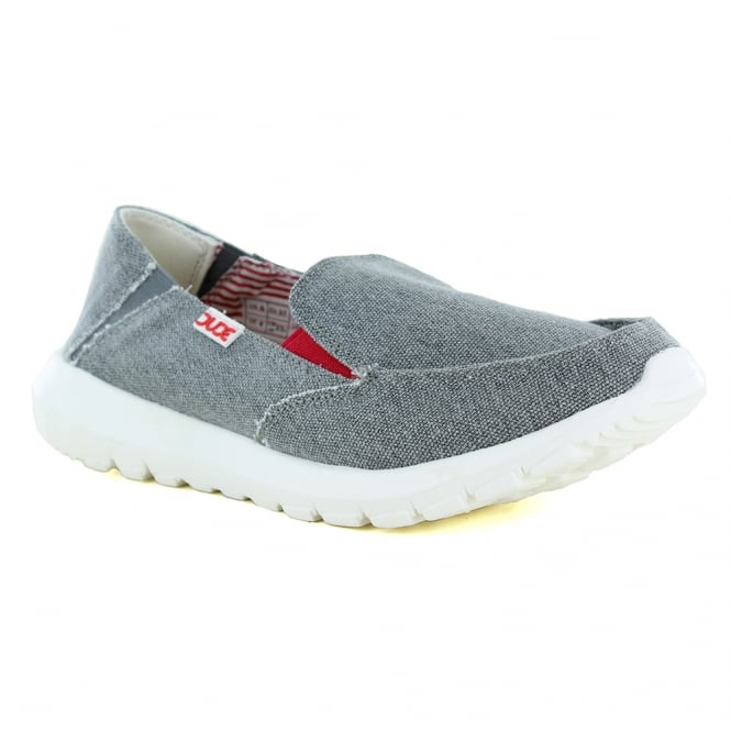 Hey Dude Ava Funk Womens Casual Canvas Slip-On Shoes - Grey
