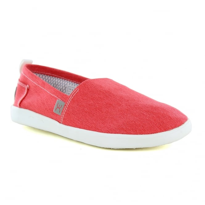 Hey Dude Capri Stretch Womens Slip-On Shoes - Red