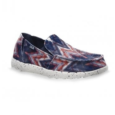 d619f6c6fa Hey Dude Farty Print Mens Casual Canvas Slip-On Shoes - Navy Tepee