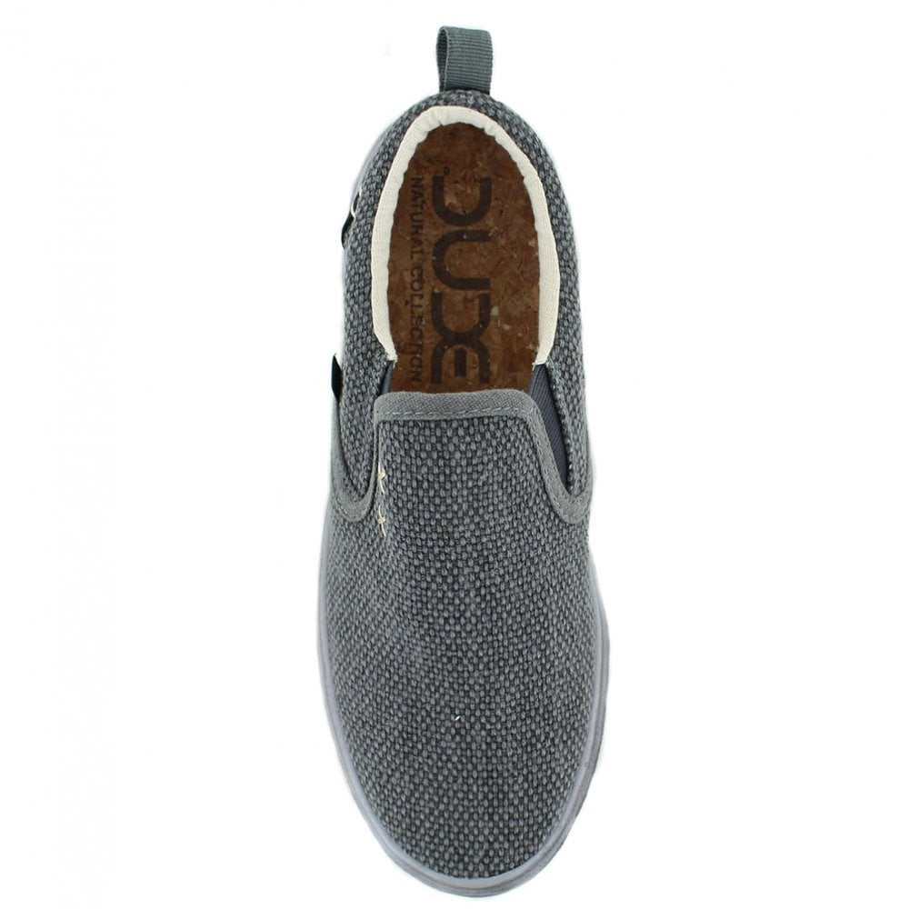 ff3958e747b9 Hey Dude Flip Braided Mens Casual Canvas Slip-On Shoes - Black
