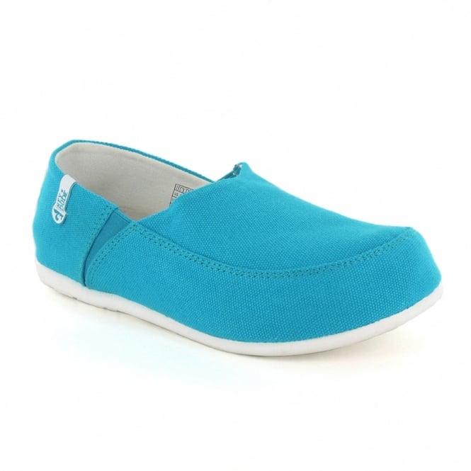 Hey Dude Taormina Womens Canvas Slip-On Shoes - Light Blue