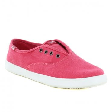 Hey Dude Jenny Stretch Womens Canvas Slip-On Shoes - Coral
