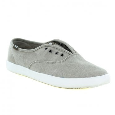 Hey Dude Jenny Stretch Womens Canvas Slip-On Shoes - Grey