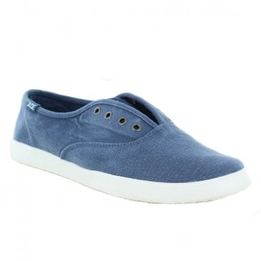 Hey Dude Jenny Stretch Womens Canvas Slip-On Shoes - Steel Blue