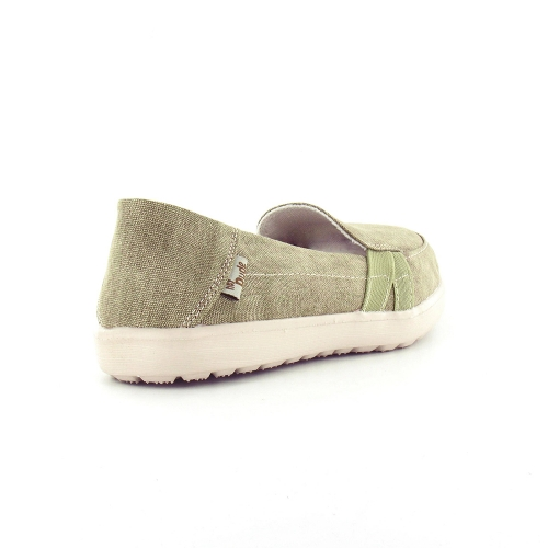 hey dude parma womens canvas slip on shoes in beige at