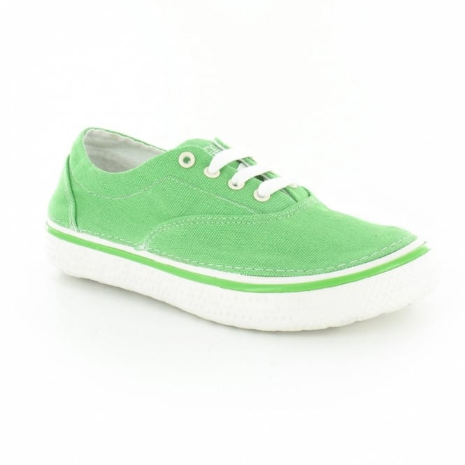 Hey Dude Siena Womens 4-Eyelet Lace-Up Shoes - Green