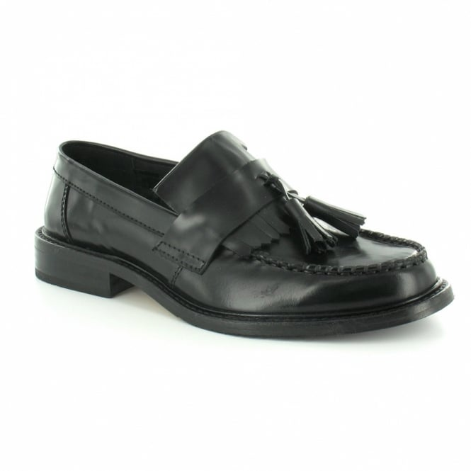 247d0242d3 Selecta Boys Leather Tassel Loafers - Black