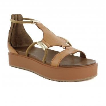 Inuovo 8729 Womens Leather Sandals - Brown
