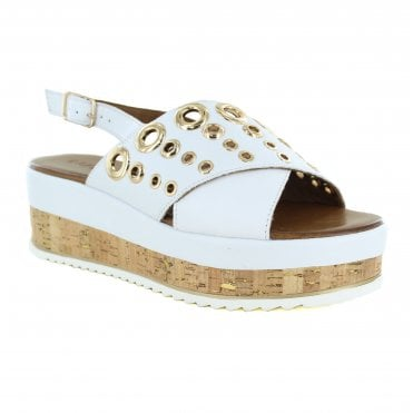 Inuovo 8836 Womens Leather Sandal - White