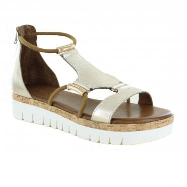 Inuovo 8979 Womens Leather Sandals - Gold