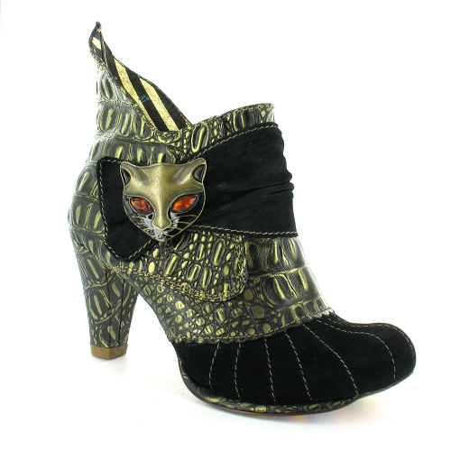 Irregular Choice 3432 2e Womens Leather Cat Heeled Ankle