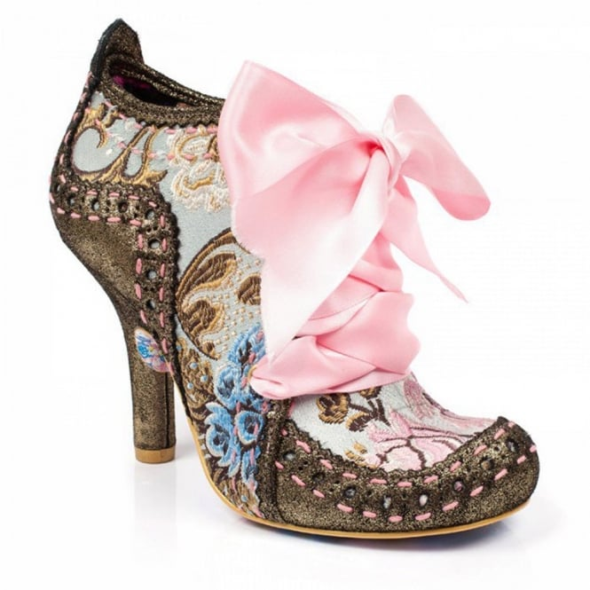 Irregular Choice Abigails Third Party 3081-06BR Womens Ankle Boots - Gold And Pink
