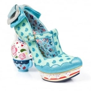 Irregular Choice Alice In Wonderland 2 4296-3B My Cup Of Tea Womens Tea-Pot High Heel Shoes - Blue