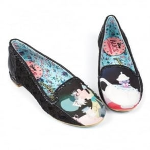 Irregular Choice Alice In Wonderland 2 4329-18A Little More Tea? Womens Low Pumps - Black