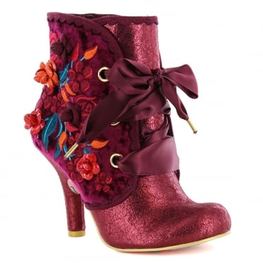 Irregular Choice Autumn Harvest 3081-49B Ankle Boots - Red