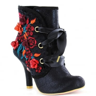 Irregular Choice Autumn Harvest 3081-49C Ankle Boots - Black
