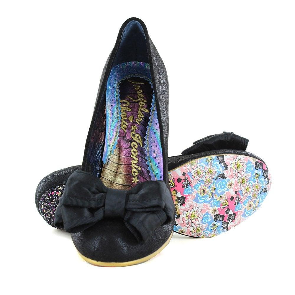 c385bf95998 Ban Joe 4255-1AE Womens Court Shoes - Black Glitter