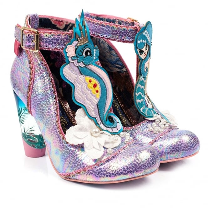 Irregular Choice Barnacle Betty 2781-18A Womens High Heel Court Shoes - Pink Multi