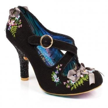 874937c94d310 Irregular Choice Beryll Blossom 4331-24C Womens Court Shoes - Black