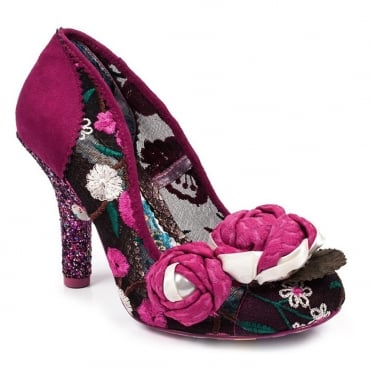 Irregular Choice Budding Beauty 4331-20A Womens High Heel Court Shoes - Pink