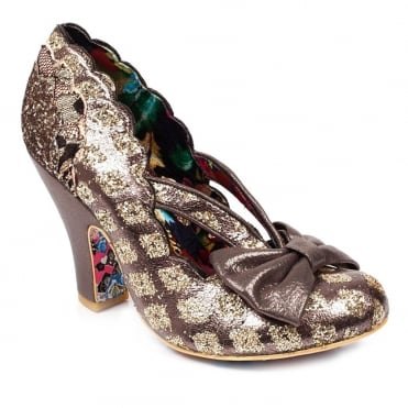 Irregular Choice Curtain Call 4135-20N Womens Court Shoes - Pewter Multi