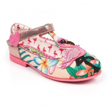 Irregular Choice Flamingo 4395-01A Girls Shoes - Peach