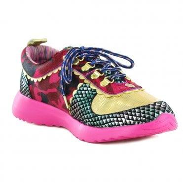 cc28078b3e Irregular Choice Geology Rocks 4473-01C Womens Fashion Trainers - Bright  Pink
