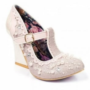 Irregular Choice Juicy Jewels 4338-05B T-Bar Court Shoes - Pink