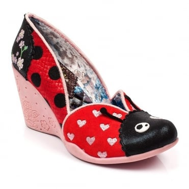 Irregular Choice Lady Bee 4430-01A Womens Wedge Shoes - Red