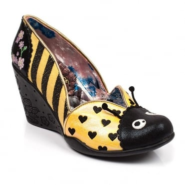 Irregular Choice Lady Bee 4430-01B Womens Wedge Shoes - Yellow