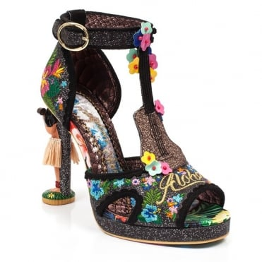 Irregular Choice Magical Maui 4429-2C Womens Character Heel Shoes - Black